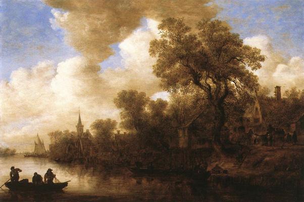 Jan van Goyen. River scene