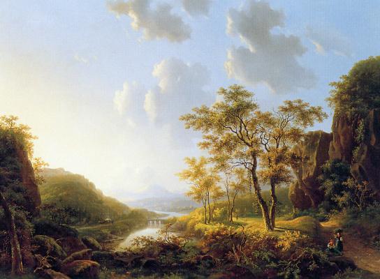 Виллем де Клерк. Вид на Рейне