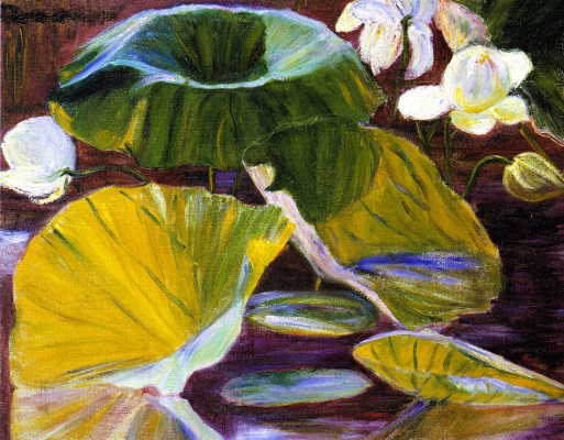 Lila Cabot Perry. The Lotus flower. Japan