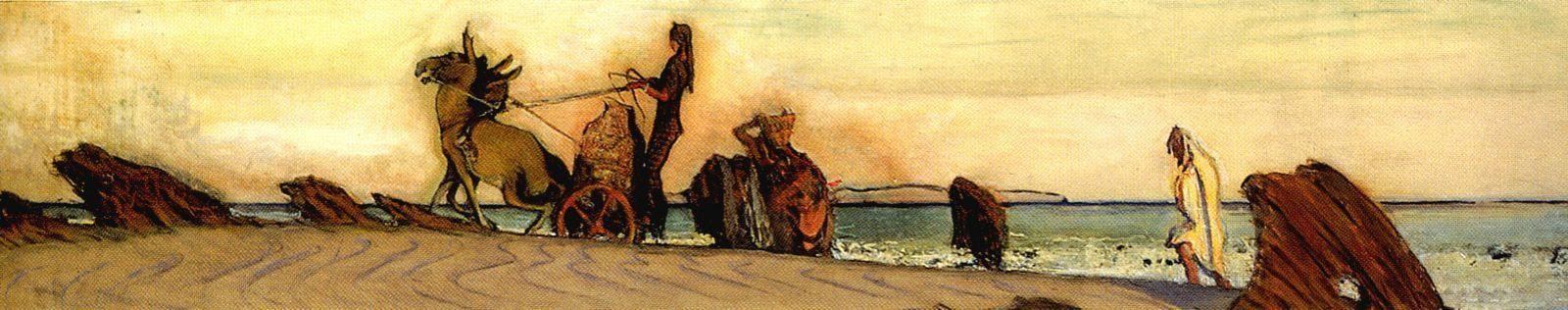 Valentin Aleksandrovich Serov. Odysseus and Nausicaa