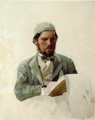 Portrait of artist Ivan Nikolaevich Kramsky. 1874