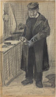 Винсент Ван Гог. Мужчина чистящий сапог