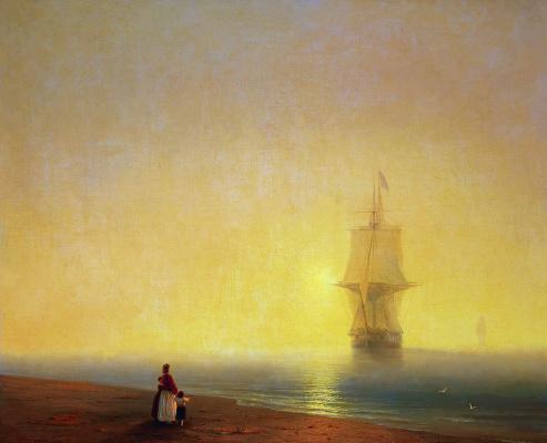 Ivan Aivazovsky. Morning on the sea