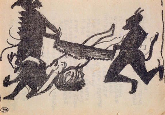 Kazimir Malevich. Devils are sawing sinner