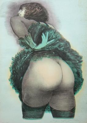 Ernst Fuchs. Erotic view