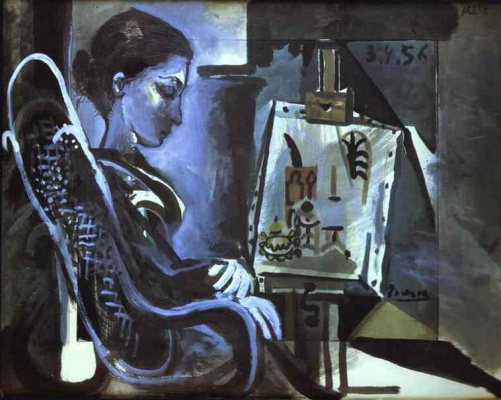 Pablo Picasso. Jacqueline in the Studio