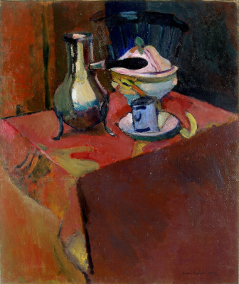 Henri Matisse. Tableware on the table