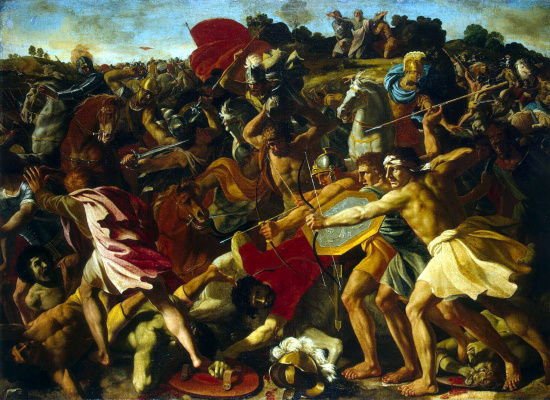 Nicola Poussin. The battle of the Israelites against the Amalekites