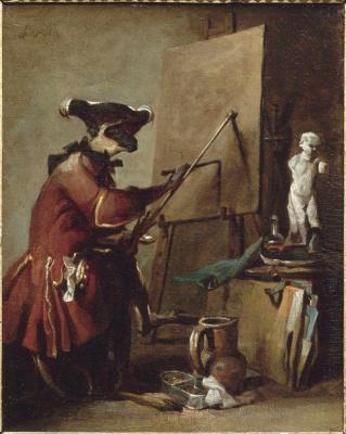 Жан Батист Симеон Шарден. Обезьяна-художник