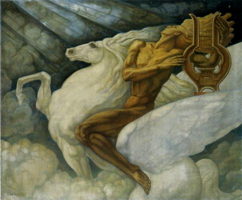 Jean Delville. Pegasus