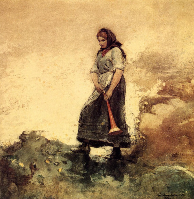 Winslow Homer. Daughter of the coast guard
