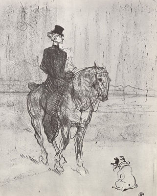 Henri de Toulouse-Lautrec. Rider and dog