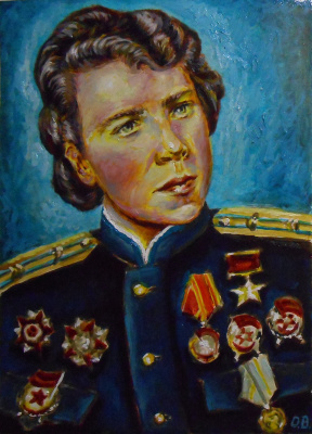 Владимир Иванович Осипов. Evdokia Andreyevna Nikulina. Hero of the Soviet Union 1944. © 2018.