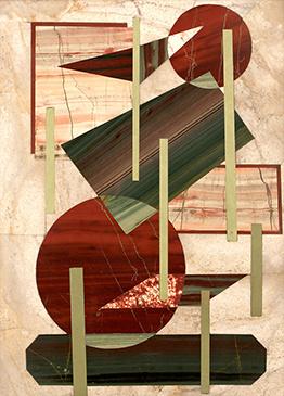 Boris Lazarevich Oshkukov. Glass shelves, florentine mosaic