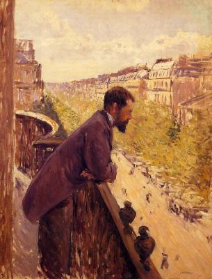 Гюстав Кайботт. Человек на балконе