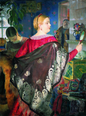 The merchant's wife with mirror