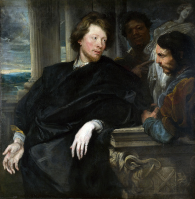 Anthony van Dyck. Portrait of George gage with two companions