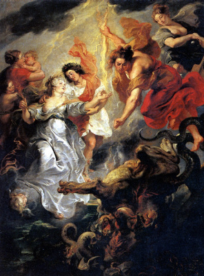 Peter Paul Rubens. The reconciliation of Marie de Medici with her son