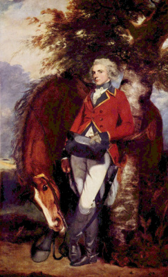 Joshua Reynolds. Portrait of Colonel George K. H. Coussmaker, the commander of the guards Grenadier regiment