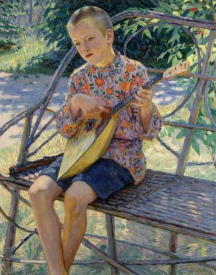 Nikolay Petrovich Bogdanov-Belsky. The artist's son