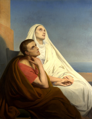 Ари Шеффер. St. Augustine and his mother St. Monica