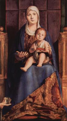 Антонелло да Мессина. Мадонна на троне, фрагмент Пала ди Сан Кассиано, Венеция