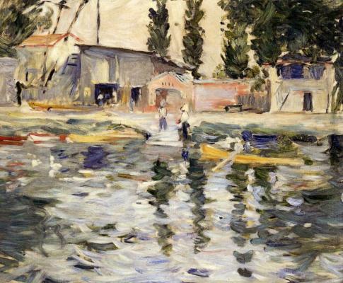 Berthe Morisot. The Seine at Bougival