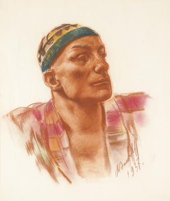 Alexander Yakovlev. Portrait of Mariana Ladre. 1937 sanguine,