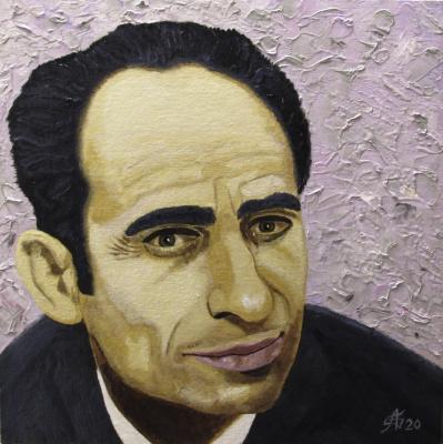 Artashes Badalyan. Portrait of the father - x-hardboard-m - 30x30