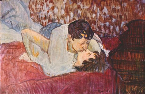 Анри де Тулуз-Лотрек. Поцелуй