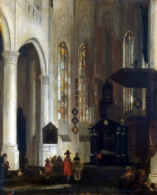 Emmanuel de Witte. Interior view of the Old Church in Delft