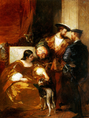 Richard Parkes Bonington. Francis I and Duchess d ' Etampes