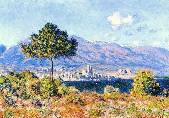 Claude Monet. View of Antibes from the Plateau Notre-Dame