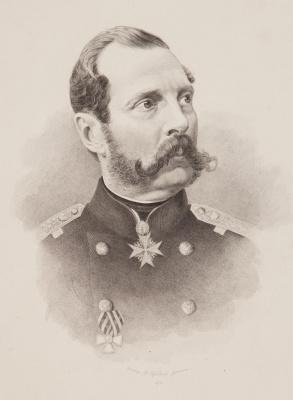 Федор Иванович Иордан. Портрет императора Александра II