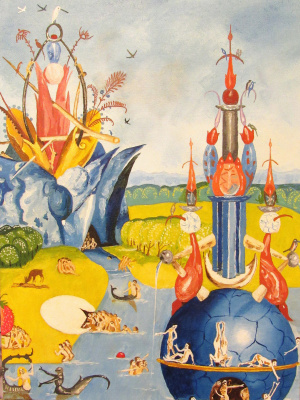 Artashes Badalyan. Bosch Garden of Earthly Delights fragment-1 (copy) - x-cards. / M - 40x30