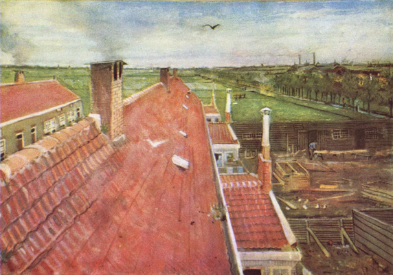 Vincent van Gogh. The roof, the view from the Studio of van Gogh