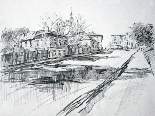 Dmitry Vladimirovich Sazhnov. Graphics pencil