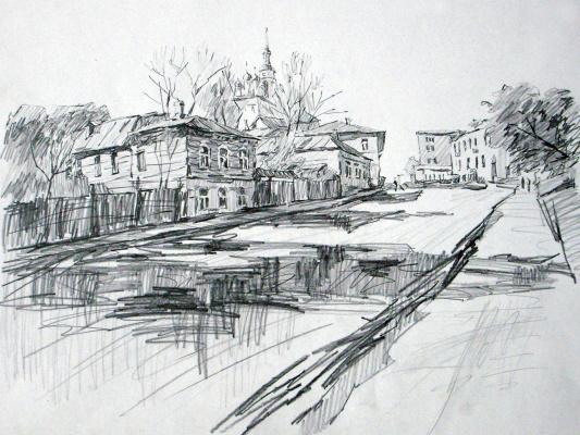 Dmitry Vladimirovich Sazhnov. Graphics pencil