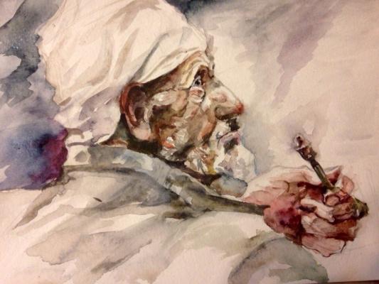 Александра Морозова. Старик с трубкой