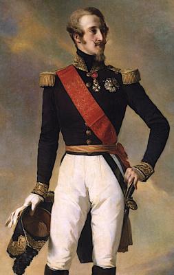 Франц Ксавер Винтерхальтер. Луи Шарль Филипп Орлеанский, герцог Немура. Фрагмент