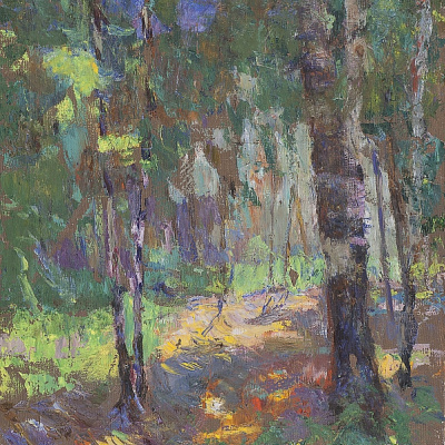 Владислав Акимович Потехин. Утро в лесу