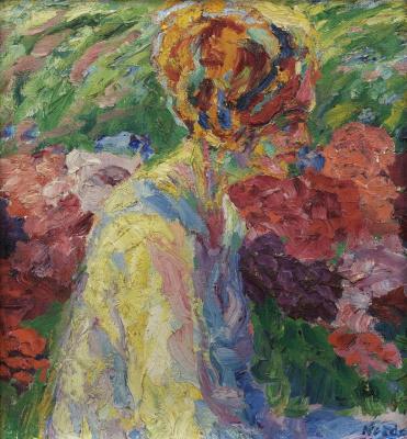 Emil Nolde. The girl in the garden