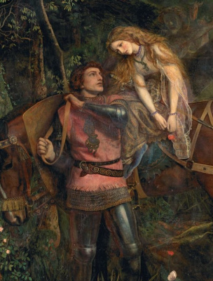 Arthur Hughes. Ruthless beauty. Fragment