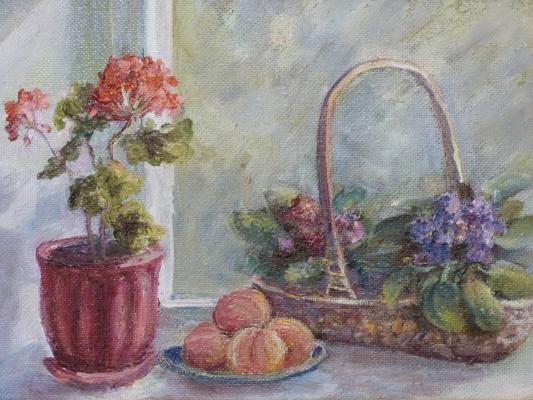 Надежда Георгиевна Шацкая. Натюрморт на окне