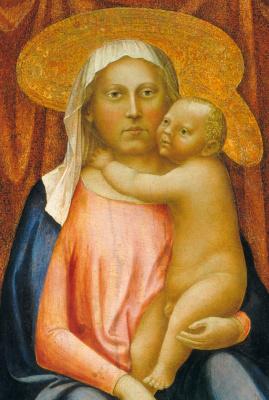Tommaso Masaccio. Madonna and Child (Madonna of Humility). Fragment