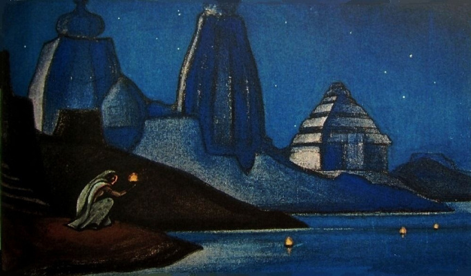 Nicholas Roerich. Flames of happiness (Lights on the Ganges)