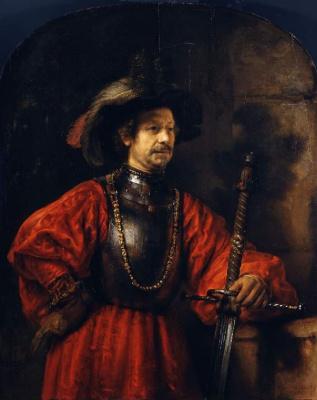 Rembrandt Harmenszoon van Rijn. Portrait of a man in military clothes