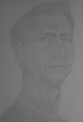 """Anatoly Kaplan L.. """"Self-portrait"""" 1935"""