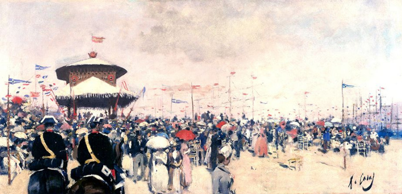 Ramon Casas i Carbó. Grand opening of the regatta in Barcelona