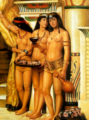 John Collier. The maids of the Pharaoh